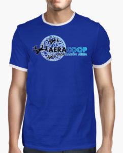 camiseta drones azul chico