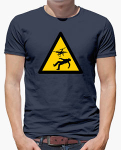 Camiseta drones peligro